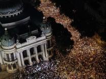 PROTESTS AGAINST RISING PUBLIC TRANSPORT COSTS IN RIO DE JANEIRO