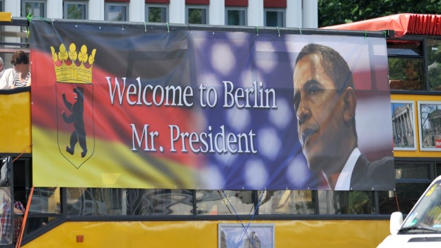 Obama in Berlin - Vorbereitungen