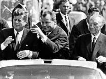 John F. Kennedy, Willy Brandt, Konrad Adenauer, 1963