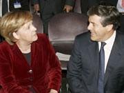 Josef Ackermann, Angela Merkel, ddp, Kanzleramt