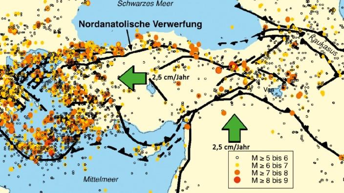 Erdbebengefahr in der Türkei
