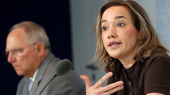 Pressekonferenz Schäuble und Schröder