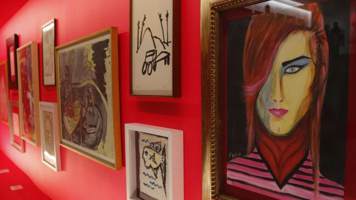 Art exhibition in Madrid.