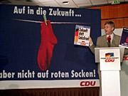 Rote Socken, CDU, Wahlkampf, dpa