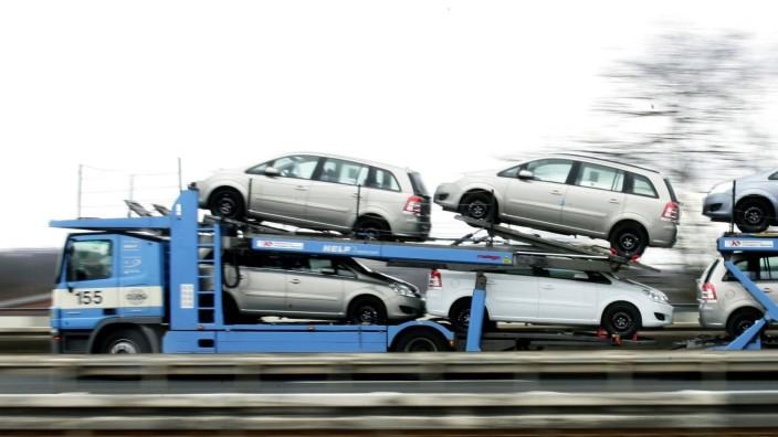 Autotransport bei Opel