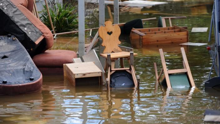 Hochwasser in Bayern - Aufräumarbeiten in Deggendorf