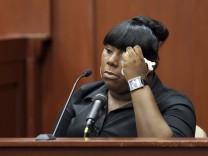Rachel Jeantel im Zeugenstand beim Verfahren gegen George Zimmerman