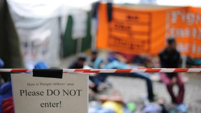 Hungerstreik in München Flüchtlinge im Hungerstreik in München