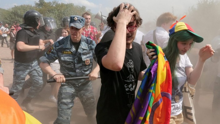 Demonstration gegen Homophobie in St. Petersburg