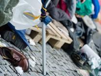 Polizei räumt Camp von Hungerstreikenden
