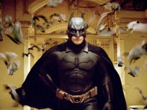 Actor Christian Bale stars as Batman in a scene from Warner Bros. Pictures' action adventure film 'Batman Begins'