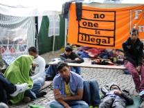 Flüchtlinge im Hungerstreik in München, 2013