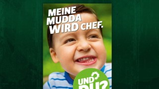 Grüne Wahlplakat Mudda Mutter Bundestagswahl 2013