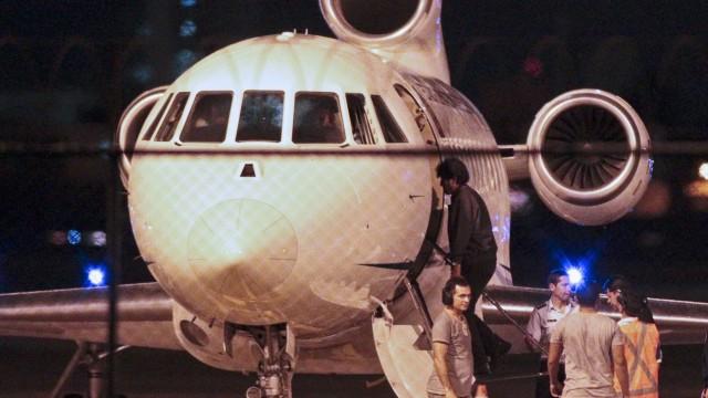 Evo Morales Flugzeug Wien