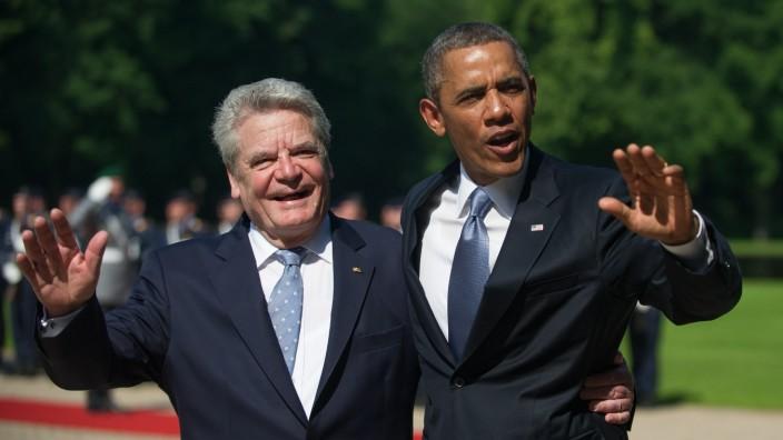 Bundespräsident Gauck Us-Präsident Obama  Berlin