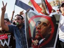 Ägyptische Demonstranten auf dem Tahrir-Platz in Kairo