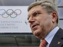 Thomas Bach nach der IOC-Sitzung in Lausanne