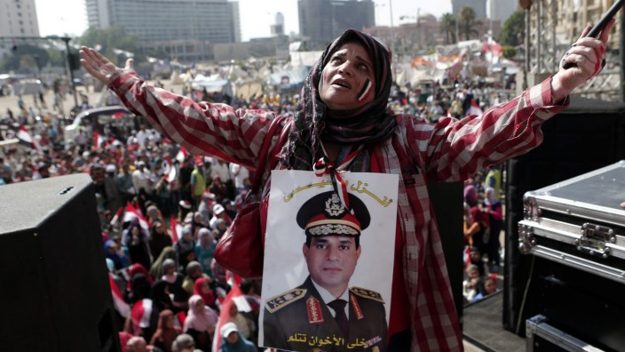 Egyptians after the presidency handover in Egypt