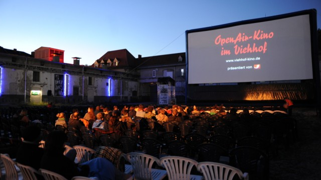 Das Open-Air-Kino im Viehhof in München.