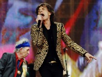 Keith Richards and Mick Jagger of the Rolling Stones perform at the British Summer Time Festival in Hyde Park in London