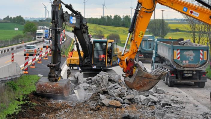 Autobahn, Baustelle, Sanierung, Ramsauer