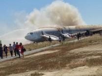 Verunglückte Boeing 777 in San Francisco