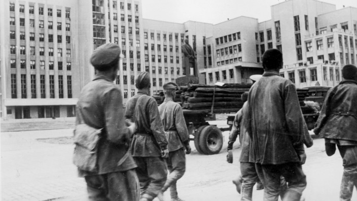 Russische Gefangene in Kiew, 1941