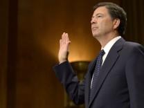 James Comey vor seiner Anhörung im US-Senat