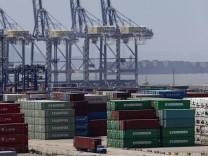 Hafen Ningbo China Wirtschaft Exporte