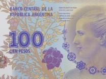 Evita auf 100-Pesos-Schein aus Argentinien