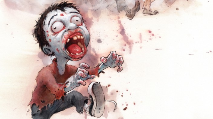 """Kinderbuch-Satire """"A Brain is for Eating"""" für Zombies"""