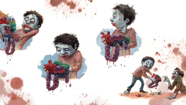 "Kinderbuch-Satire ""A Brain is for Eating"" für Zombies"
