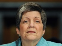 File photo of U.S. Homeland Security Secretary Janet Napolitano during a hearing of the Senate Judiciary Committee on Capitol Hill in Washington