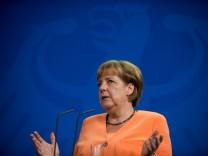 Angela Merkel im Kanzleramt in Berlin