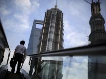 Pudong Finanzviertel in Shanghai