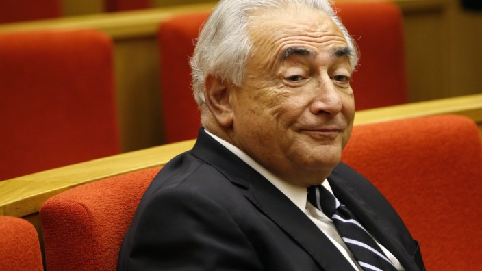 Former International Monetary Fund chief Dominique Strauss-Kahn attends a French Senate commission inquiry on the role of banks in tax evasion in Paris