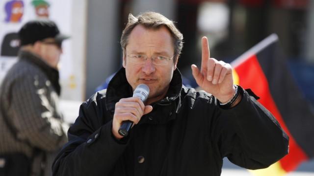Michael Stürzenberger bei Kundgebung gegen Moscheebau in München, 2013