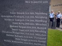 Der Gedenkstein für die mutmaßlichen NSU-Opfer in Dortmund.