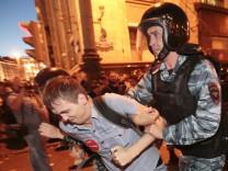 Alexej Nawalny Putin Moskau Proteste