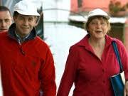 Angela Merkel, Joachim Sauer; Foto: dpa