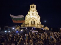 Protesters oppose the Socialist-led government in Sofia