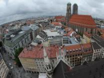 Blick über die Stadt München.
