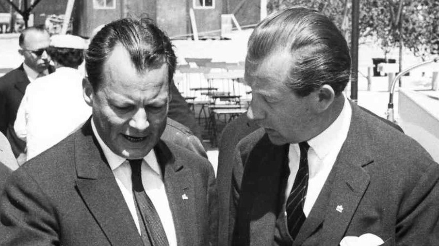 """Berliner Morgenpost"" Axel Springer Willy Brandt"