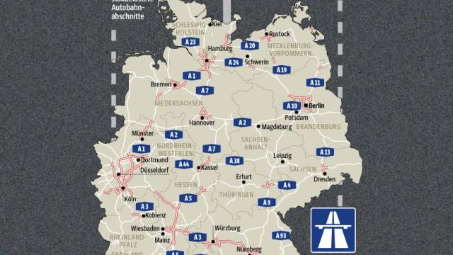 Autobahn Autobahnen, Brücken, Bahngleise