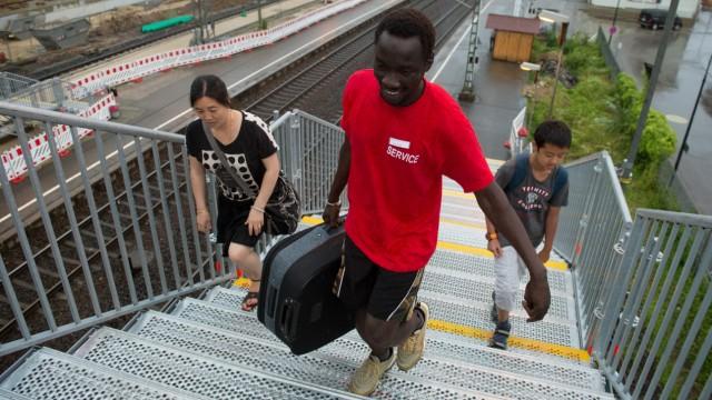 Gepäckträger-Projekt für Flüchtlinge in Schwäbisch Gmünd.