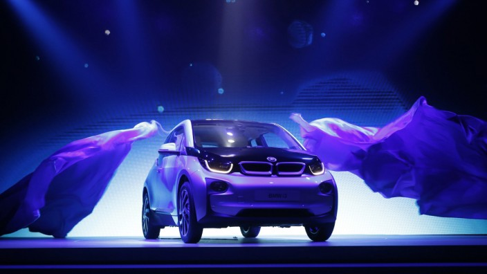 BMW's first all-electric car, i3,  is unveiled at a ceremony in Beijing