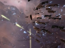 Eine Weltraumflotte im Online-Spiel Eve