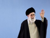 File photo of Iran's Supreme Leader Khamenei gesturing in Tehran