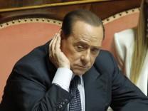 Silvio Berlusconi beim gescheiterten Misstrauensvotum gegen Innenminister Angelino Alfano am 19. Juli 2013.