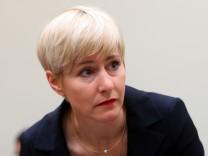 Anja Sturm im Oberlandesgericht München.